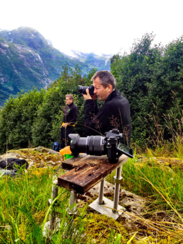 Fotosession på Isberg